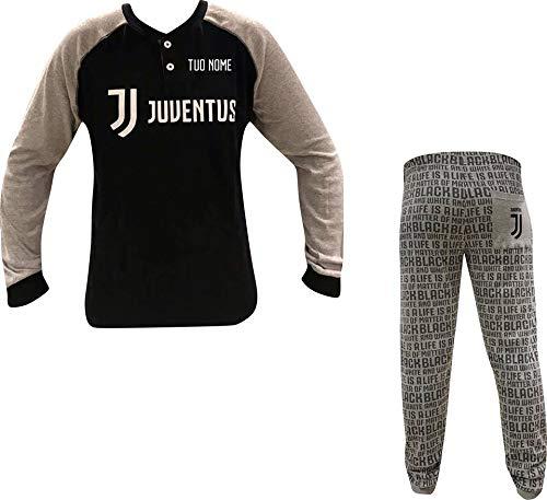 MAESTRI DEL CALCIO Pigiama Bambino Ufficiale Personalizzato Personalizzabile (12/14 Anni) Juv JUVENTU (Dybala, Ronaldo, HIGUAIN, Buffon, Chiellini)