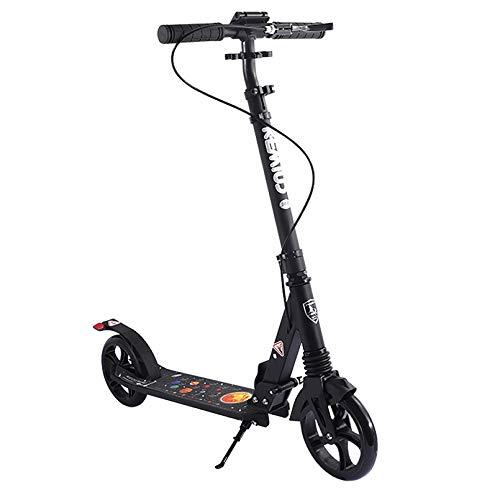 Scooters Patinete de 2 ruedas con freno de mano para adultos / adolescentes con tecnología Lean to Steer Sistema de plegado de liberación rápida Patinetes deportivos de 3 niveles de altura ajustable