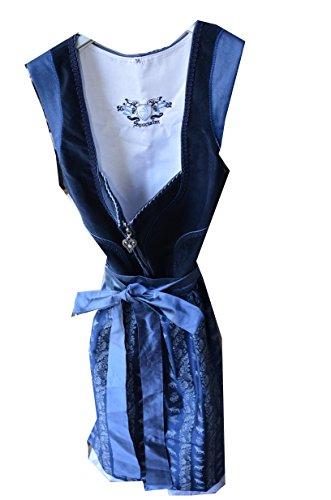 Sportalm Kitzbühel Dirndl Trachtenkleid Kleid und Schürze Balkonettdirndl Modell: Podersdorf Gr. 38 Farbe: Dunkelblau / Blau / Weiß Modell: SA787039 Länge: Midi Dirndl NEU! Dirndl Trachtenkleid