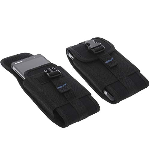 foto-kontor Tasche für Ruggear RG850 Outdoor Hülle Metallclip Gürtelschlaufe mit Sicherheitsclip