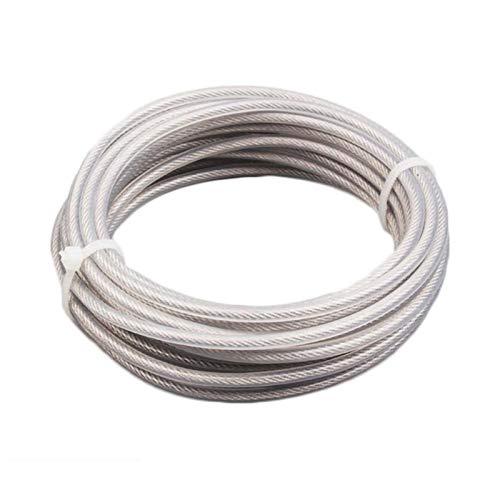 3.0mm 1pc cuerda de nylon Trimmer Line Jardín desbrozadora Cortadora de cesped línea de nylon alambre de cuerda for el jardín robot cortacésped piezas de la herramienta ( Color : White Steel Wire )