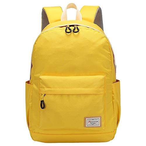 Modoker Vintage School College Backpack Rucksack for Men Casual Daypack Computer Back Pack Fits 15.6 inch,Yellow