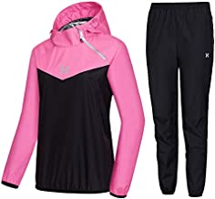HOTSUIT Sauna Suit Women Weight Loss Boxing Gym Sweat Suits Workout Jacket, Rose Red, XXL
