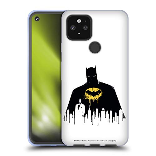 Head Case Designs Oficial Batman DC Comics Alter Ego Paisaje Urbano 2 Dualidad Carcasa de Gel de Silicona Compatible con Google Pixel 5