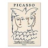 Carteles e impresiones de Picasso Matisse vintage, arte abstracto de la pared de la flor del cuerpo de la muchacha, pintura de la lona de la decoración del hogar A5 20x30cm