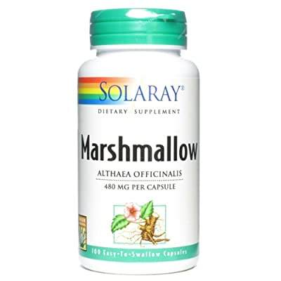 Solaray 480 mg Marshmallow Root Capsule - Pack of 100 by Solaray