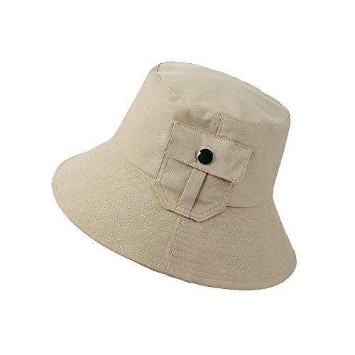 JFJWH Fischerhut Sonnenhut Hut for Damen Herren,Herren und Damen Taschenschirm UV-Schutzkappe Sun Hat-Khaki_M