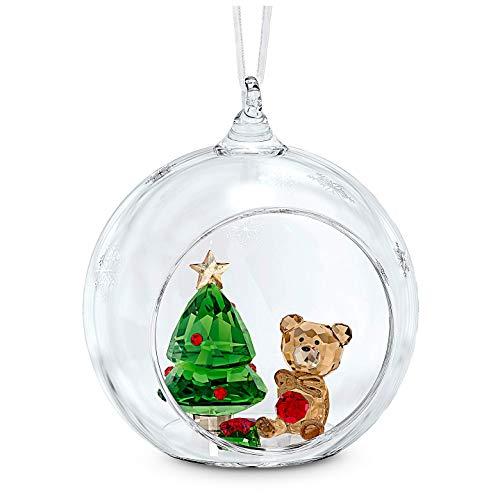 Swarovski Ball Ornament, Christmas Scene Dark Multicolor One Size