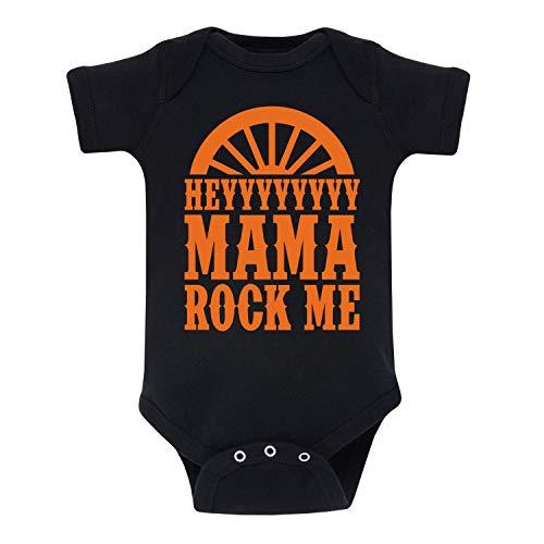 Hey Mama Rock Me - Infant Baby One Piece Black
