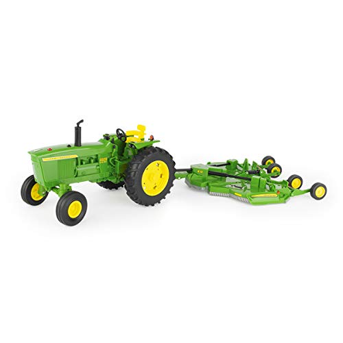 John Deere Tomy 1/16 Big Farm 4020 Tractor & E-12 Rotary Cutter Toy