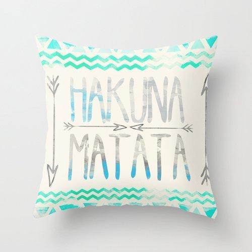 nicholascgshoponline Hakuna Matata–Funda de almohada Home Decor Cojín 18x 18