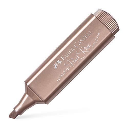 Faber-Castell 154626 - Evidenziatore fluorescente TEXTLINER 1546 Metallic, colore: Rosa metallizzato