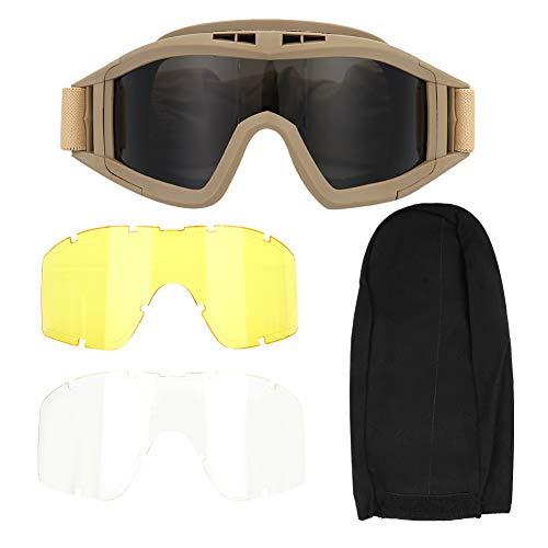 iFCOW Anti-Beschlag-Brille, Taktikbrille, Airsoft, Paintball, Ski, Anti-Staub, Anti-Beschlag-Augenschutz