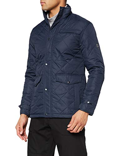 Regatta Herren Locke Water Repellent Insulated Dual Entry Pockets Quilted Equestrian Friendly Jacket with Back Vents Jacke, Navy, M