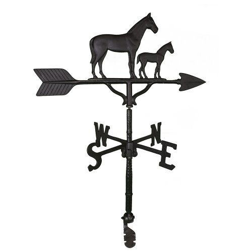 Montague Metal Products Wetterfahne mit Stute und Colt, 81 cm