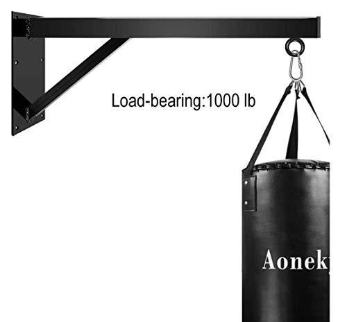 ZASEA Wall Mount Heavy Bag Hanger Professional Boxing Bag Mounting Bracket Heavy Duty Punching Bag Hanger Load-bearing1000 lb (Color : Black)