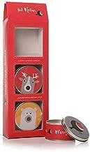 3er Set Weihnachten Gewürze Robin Kerze Blechbüchsen Geschenkbox