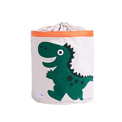 Meltset Cesta de juguetes para niños grande para la colada de lona sucia cesta plegable y resistente al agua verde Dinosaurio verde Talla:talla única