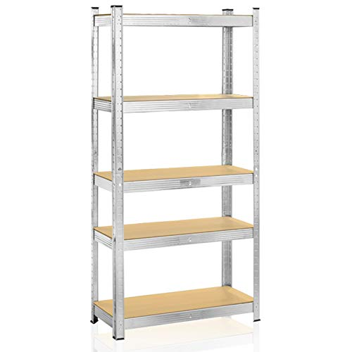 Shelving Unit Set of 2, Thick Galvanised Steel and Strong MDF Boards