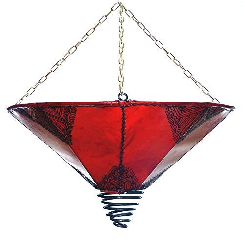 Orientalische Lampe Hängelampe marokkanische Deckenlampe Hänge Leuchte Hennalampe Lederlampe Fuego...