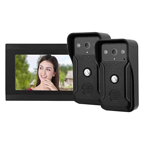 Timbre de videoportero con Monitor LED infrarrojo de fotografía de intercomunicador, para Seguridad en el hogar(European regulations)
