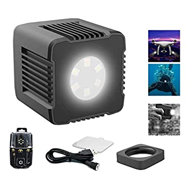 Mirfak Moin Light Waterproof Magnetic Cube LED Light for Photo, Video, and Sport Record,On-Camera LED for DSLR Camera Sony Canon Nikon Panasonic Fuji Smartphone GoPro Smartphone Drone Stabilizer