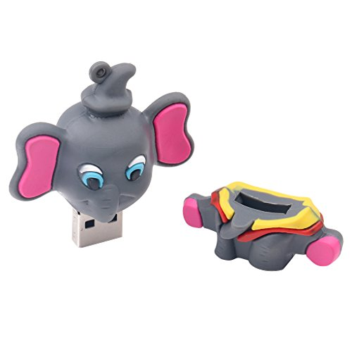 #N/A 1x Elephant-shaped USB Memory Stick, Pendrive Accessories for Laptop PC - 8GB