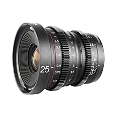 Compatible with M43 MFT OLYMPUS / Panasonic Lumix Cameras such as GH5 , BMPCC and BMPCC 4K , Zcam E2 Wide aperture of T2.2, minimum focusing distance of 25mm The equivalent focal length is 50mm on Micro 4/3 mount camera bodies Delivery image withs sm...