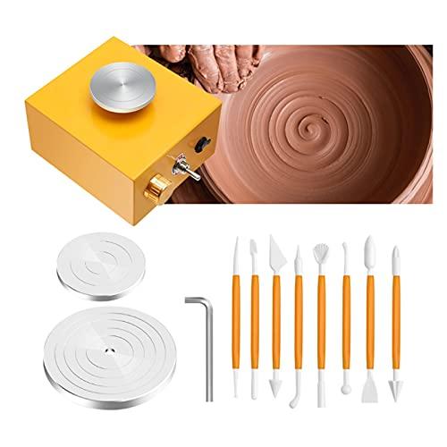 XINXI-MAO Cerámica Mini Turntable Gold Ceramic Rueda De Cerámica Cerámica Cerámica Herramientas De Arcilla Do - Utiliza Bandejas para Cerámica Gotas De Trabajo Enchufe Equipo