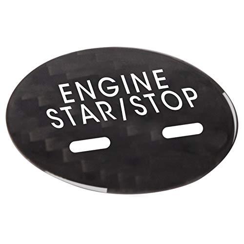 Tonyzhou Co.,ltd Inicio con un Solo botón Fibra de Carbono Real Motor de Coche Interruptor de Arranque y Parada Botón Cubierta de Ajuste Pegatinas Calcomanías Auto, para Cadillac XTS CT6 XT5 SRX CTS