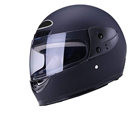 ZYW Motorrad-Sturzhelm-Roller-Straßen-Auto Helm Weiblicher Helm Vier Jahreszeiten Anti-Fog Anti-Shock Anti-Collision Full Cover Helm Off-Road Motorrad-Sturzhelm,Style 1