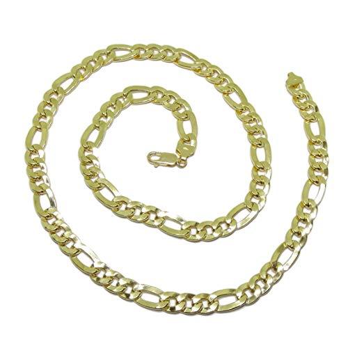 Cadena de Oro Amarillo de 18k para Hombre Modelo 3x1 de 8mm de Grosor por 60cm de Larga. Cierre mosquetón para máxima Seguridad Peso; 37.50gr de Oro de 18k.