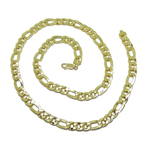 18k geelgouden ketting voor heren model 3x1 9 mm dik bij 60 cm lang Karabijnhaaksluiting voor maximale veiligheid Gewicht; 36.90gr goud 18k