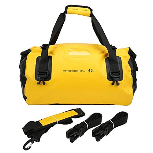 GUSTAR Borsone, 3 Prese d'Aria di drenaggio Borsa da Sella per Moto da Viaggio Campeggio Tactical Riding(Yellow)