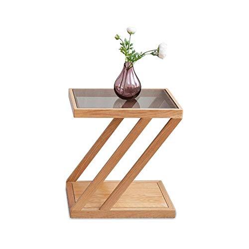 Sdesign Laptop-Tisch Höhe, Ständer Mobile Laptop Couchtisch Beistelltisch, tragbare Laptop-Schreibtisch-Tray for Sofa, Bett, Balkon, Garten, Eiche (Color : Wood Color)
