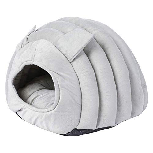 Cat Bed Igloo Cave Sleeping Bag Pet Warm House Cushion Detachable Washable Indoor Nest Bed For Cat Puppy Semi-Closed Cat Nest,Pet Supplies