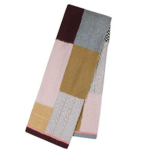 CODELLO dames patchwork sjaal van wol met kasjmier camel 92108407