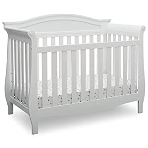 Delta Children Lancaster 4-in-1 Convertible Baby Crib, Bianca White