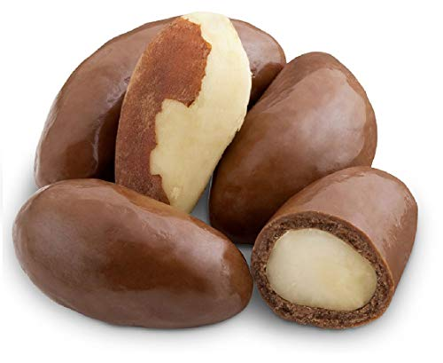Andy Anand Belgian Milk Chocolate Brazil Nuts, Amazing-Delicious-Decadent Gift Boxed & Greeting Card, Birthday, Valentine, Christmas, Gourmet Food, Mothers Fathers day, Anniversary, Wedding (1 lbs)