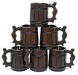 Fatto a mano in legno boccale di birra naturale in acciaio INOX Cup Men Gift eco-friendly souvenir retro marrone