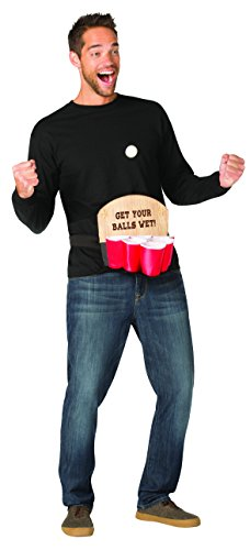 Rasta Imposta Mini Pong Costume, Adult Unisex, Beer Pong Game, red, one Piece