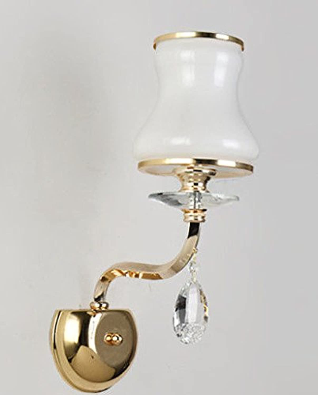 Wlxsx Europische Wandlampe Europische Artwandlampe Kreative Wandlampe Führte Wohnzimmerwandlampen-Ganghauptschlafzimmer-Kopfraum Einzelner Kopf