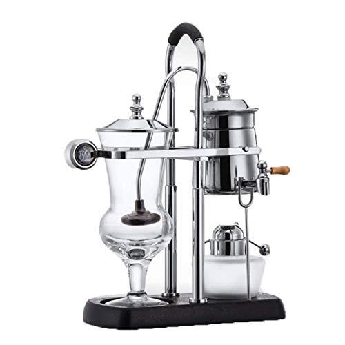 Tbagem-Yjr Edelstahl Belgische Kaffeekanne Syphon Vakuum Kaffeemaschine 360 ° Wasserhahn Rotation