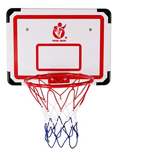 MHCYKJ Canasta Baloncesto Interior Casa Mini Aro De Juego para Niños Montado Colgante Oficina Y con Pelotas Puertas Adultos