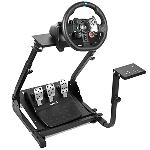 Hottoby G920/G29 Racing Wheel Stand fit for Logitech G27/G25/G923 Gaming Wheel Stand fit for Thrustmaster/PC/PS4 Racing Simulator Frame Compatible,Wheel Pedals and Shifter Mount NOT Included