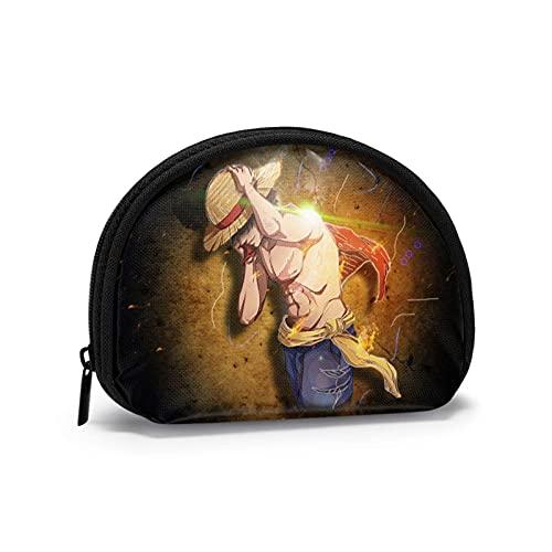 SciFi - Monedero pequeño para monedas, bolsa de embrague con cierre de cremallera, bolsa de almacenamiento en forma de concha