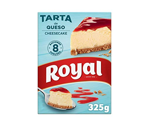 Royal Cheesecake Tarta de Queso con Cobertura de Fresa, sin Horno 8 Raciones, 325g