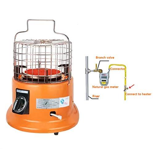 Portátil estufa de camping Tiendas de campaña Natural de gas del calentador, impermeable y silencioso y rápido de calefacción, ajustable termostato y hierro fundido Calefacción, cubierta de acero, Nar