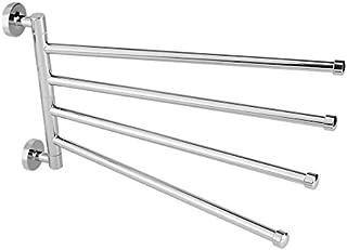 タオルハンガー ステンレス 180°回転 収納 洗面所 台所 壁掛け 省スペース キッチン タオルバー 4層