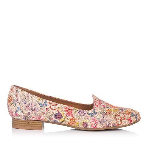 MARIA JAEN 8013 Zapato Estampado Piel Mujer Caoba